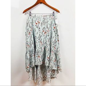 taylor & sage | floral high low midi skirt nwt